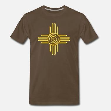 6120785f0 Zia Sun Spiral, Zia Pueblo, New Mexico I - Men's Premium T-Shirt