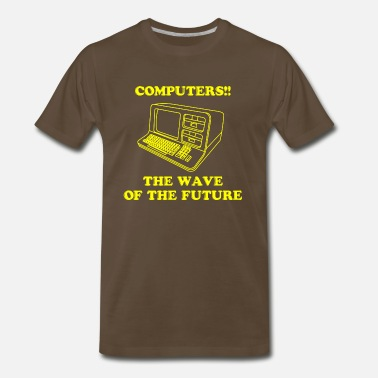Future Wave Computers! - Men's Premium T-Shirt