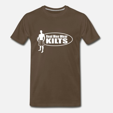 Utilikilts Real Men Wear Kilts (Oval) - Men's Premium T-Shirt