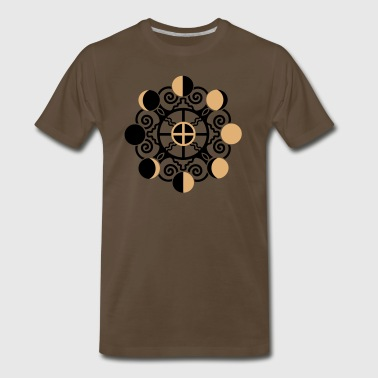 Psy Moon Phases & Earth - Symbol change is stability - Men's Premium T-Shirt