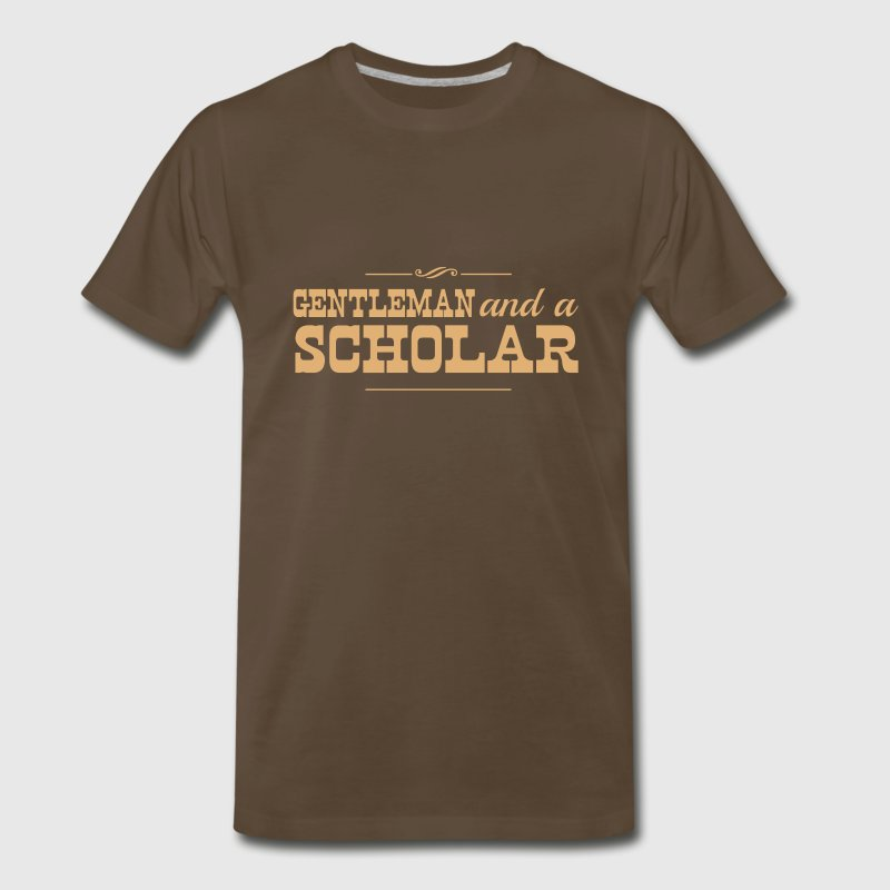 Gentleman and a Scholar - Men's Premium T-Shirt