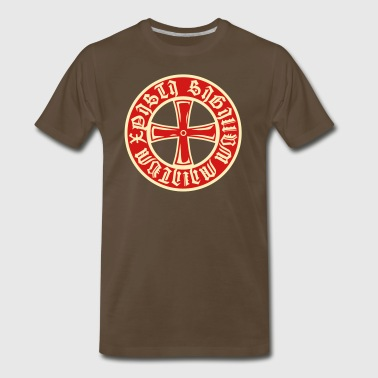 Cross Knight Templar Crusader Shield Armor 2c - Men's Premium T-Shirt