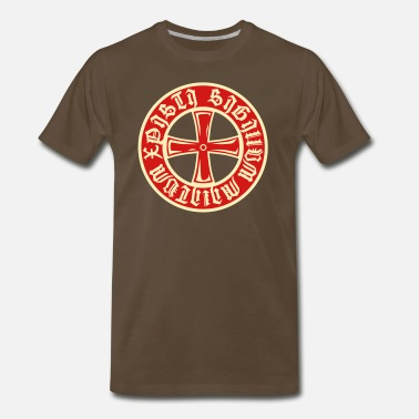 Shield Armor Cross Knight Templar Crusader Shield Armor 2c - Men's Premium T-Shirt