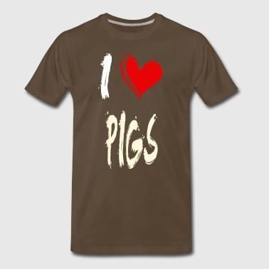 I love PIGS - Men's Premium T-Shirt