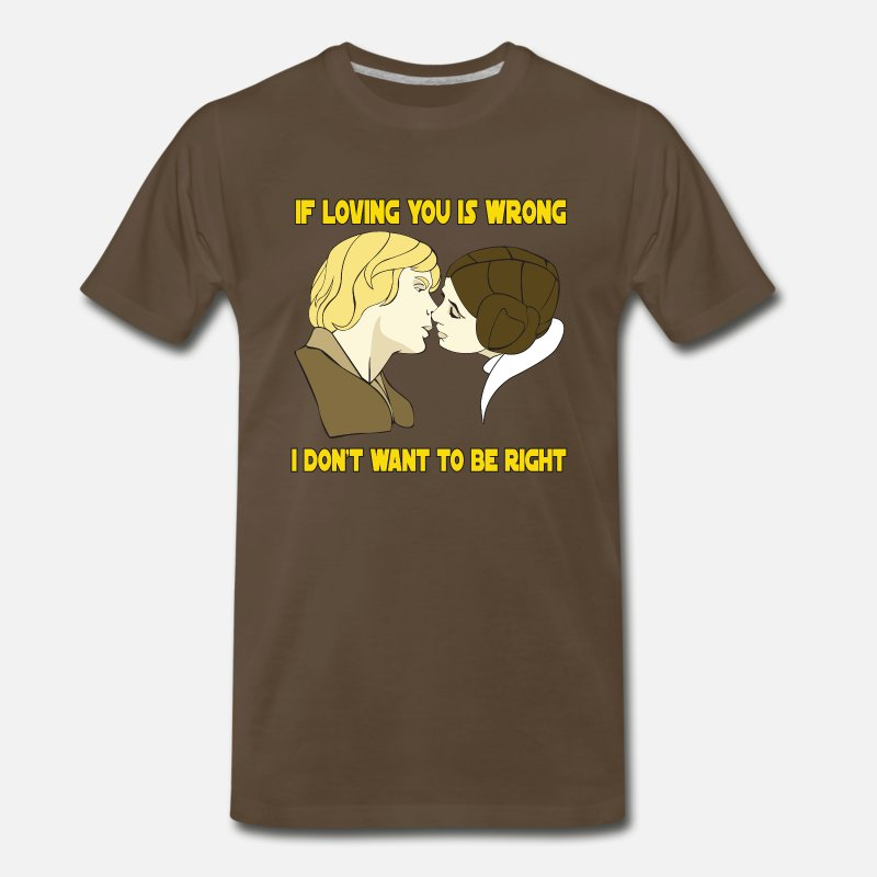 Love T-Shirts - If Loving You is Wrong - Men's Premium T-Shirt noble brown