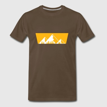 Mountains with firs - Men's Premium T-Shirt
