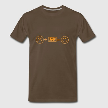 like smile love TECHNO DJ ELECTRO - Men's Premium T-Shirt
