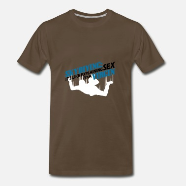 Skydiving Dad skydiving - Men's Premium T-Shirt