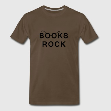 Books Rock Back in Black - Men's Premium T-Shirt