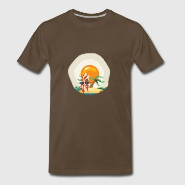 Summer Bacon and Egg - Men's Premium T-Shirt