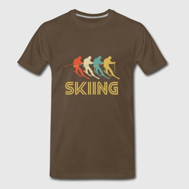 Retro Skiing Pop Art - Men's Premium T-Shirt