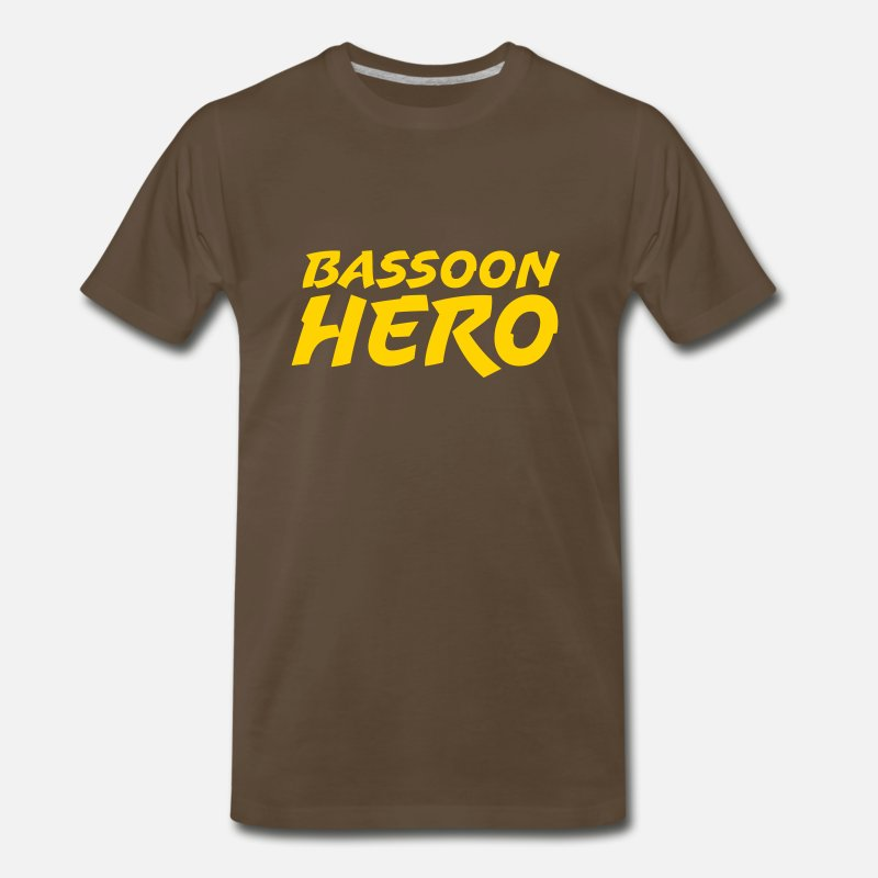 Hero T-Shirts - Bassoon Hero - Men's Premium T-Shirt noble brown