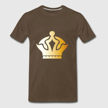 King prince gold VIP crown fun lable vector image - Men's Premium T-Shirt