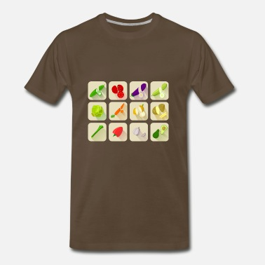 Veggie knoblauch garlic veggie gemuese vegetables1 - Men's Premium T-Shirt