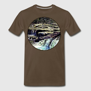 Niagara Falls NY - View From Luna Island - Men's Premium T-Shirt