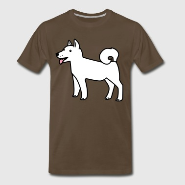 white husky dog wolf - Men's Premium T-Shirt