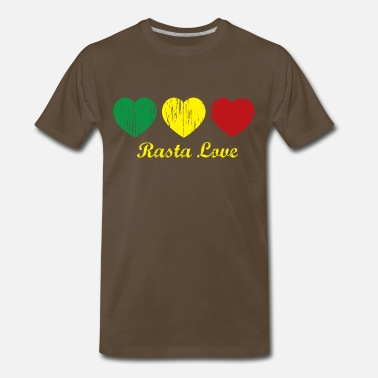 Dancehall Clothing Chocolate Rasta Love T-Shirts - Men's Premium T-Shirt
