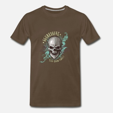Aggression aggressive skull - Men's Premium T-Shirt