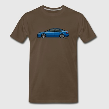 Audi A4 Quattro B5 Sedan (Nogaro Blue) - Men's Premium T-Shirt