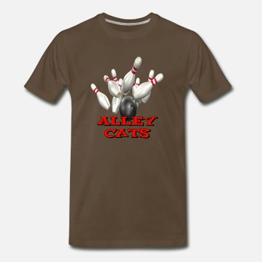 Bowling Alley Bowling Team Alley Cats - Men's Premium T-Shirt
