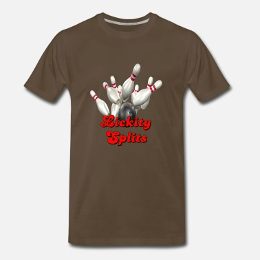 Bowling Alley Bowling Team Lickity Splits - Men's Premium T-Shirt