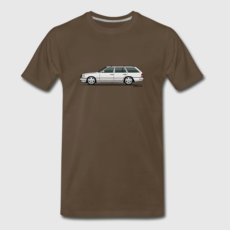 Mercedes W124 300TE Wagon (White) - Men's Premium T-Shirt
