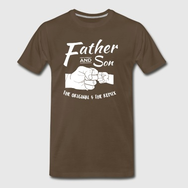 Father and Son fist bump - Men's Premium T-Shirt