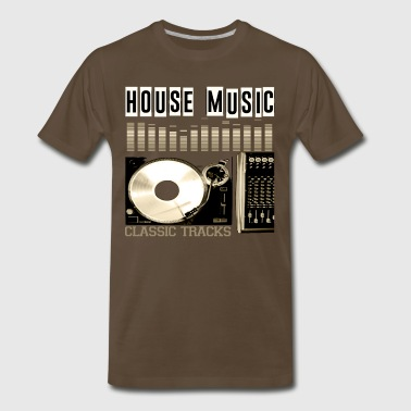 Jumpstyle HOUSE MUSIC CLASSIC TRACKS - Men's Premium T-Shirt