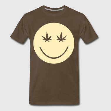 Weed Smiley green_smily_pot_eyes - Men's Premium T-Shirt