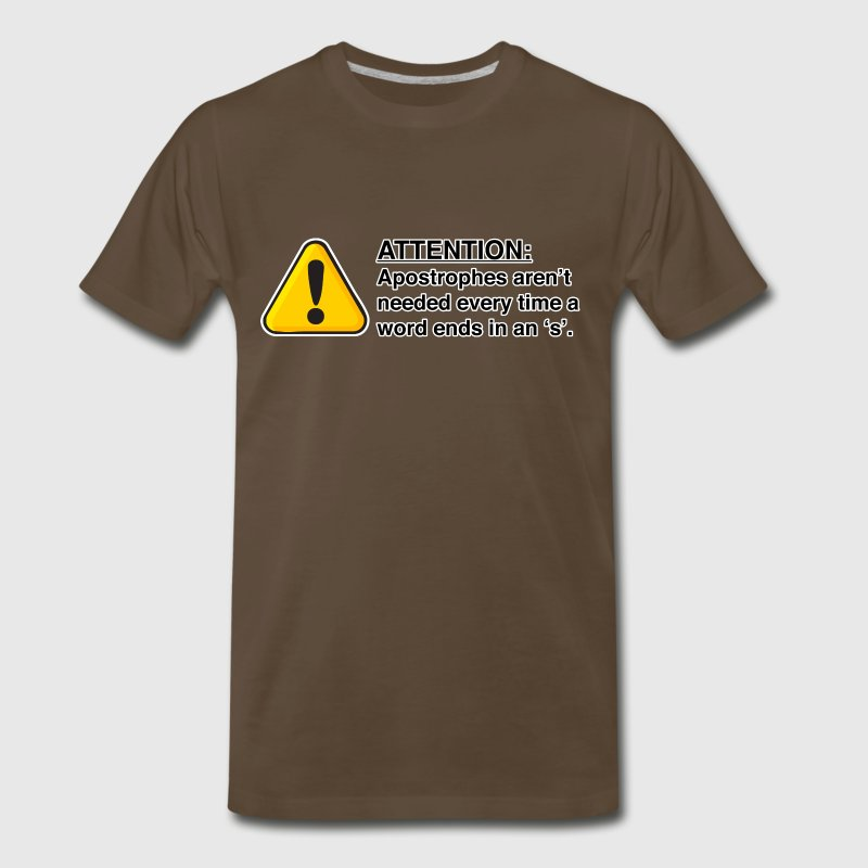 Proper usage of apostrophes - Men's Premium T-Shirt