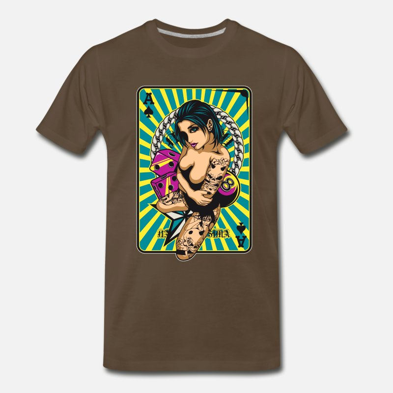 Gaming T-Shirts - Game Girl V1 - Men's Premium T-Shirt noble brown