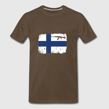 homeland fight ak 47 heimat roots Finnland png - Men's Premium T-Shirt