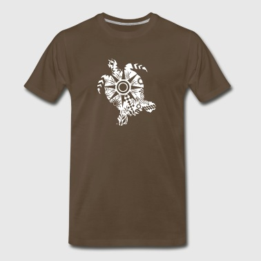 Maori Turtle honu Tattoo Tribal Shapes white Gift - Men's Premium T-Shirt