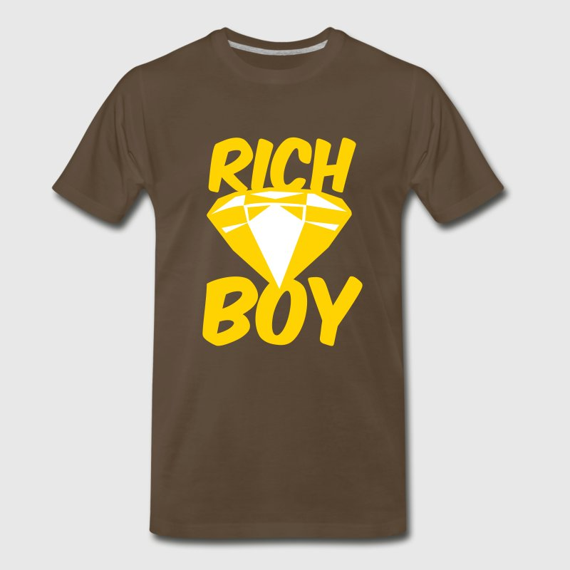 rich boy with diamond jewel - Men's Premium T-Shirt