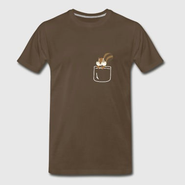 Squirrel In Your Front Pocket Funny Animal - Men's Premium T-Shirt
