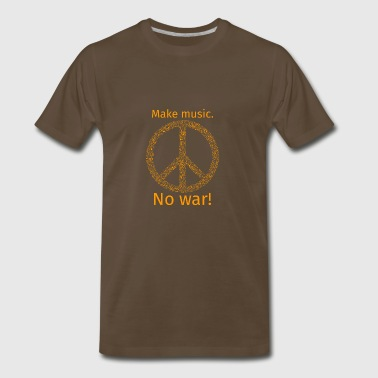 Make music no war - Men's Premium T-Shirt