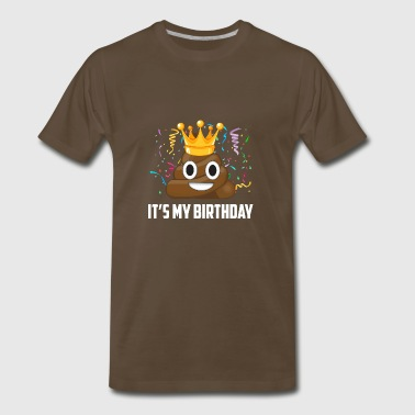 Its My Birthday Poop Emoticon - Men's Premium T-Shirt