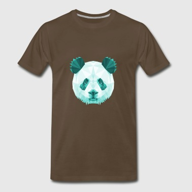 Panda Vector Panda Head Poly Vector - Men's Premium T-Shirt