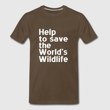 Help to Save the world s wildlife - Men's Premium T-Shirt