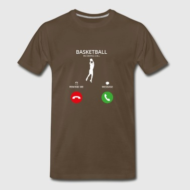 Basketball Christmas Call Mobile Anruf basketball dunking dunker - Men's Premium T-Shirt