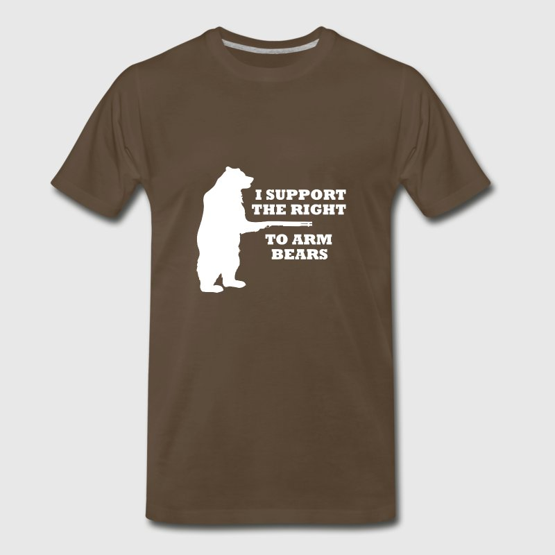 I Support The Right To Arm Bears - Men's Premium T-Shirt