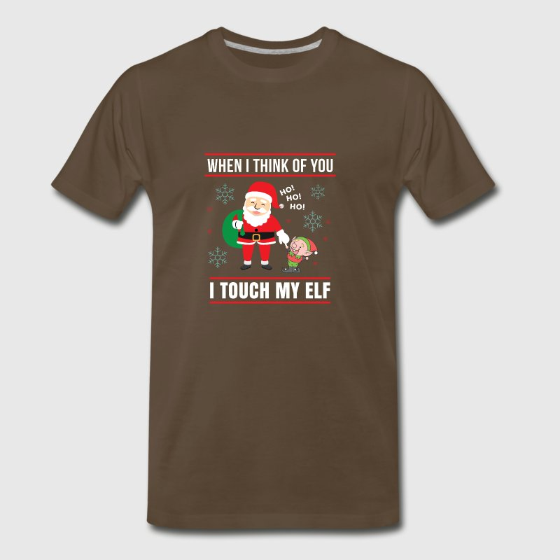 When I Think of You I Touch My Elf Ugly Christmas - Men's Premium T-Shirt