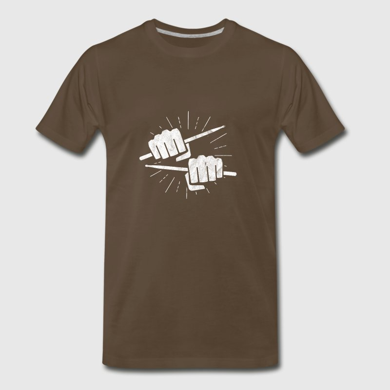 Rock T Shirt as a gifts for drummers - Men's Premium T-Shirt