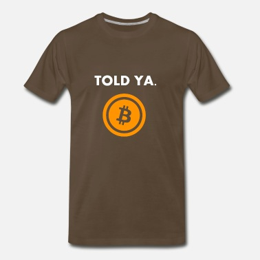 Cryptocurrency Bitcoin HODL Gift Present - Men's Premium T-Shirt