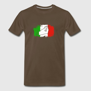 Italian Flag Finger Gesture - Men's Premium T-Shirt