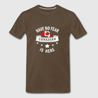 Canada Love Cool Funny Gift- Fear No Fear Canadian - Men's Premium T-Shirt