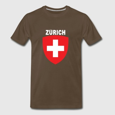 Zurich City National Swiss Emblem Design - Men's Premium T-Shirt