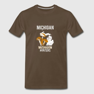 Michigan Mushroom Hunting - Men's Premium T-Shirt