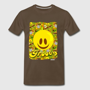 Groovy Disco 70s Smiley - Men's Premium T-Shirt
