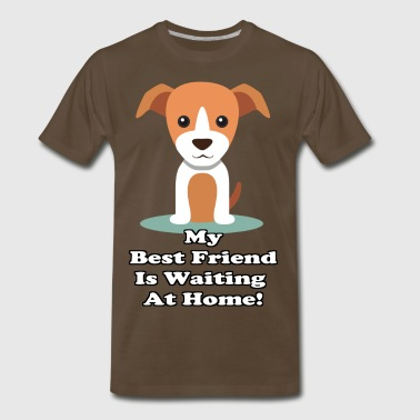 Best Friend - Dog - Men's Premium T-Shirt